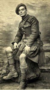 Frank Moffat, London Scots, WWI.
