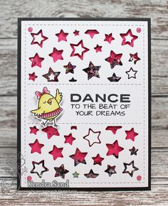 Your Next Stamp:  Star Panel Die, Hobby Chicks stamp and die set  #yournextstamp