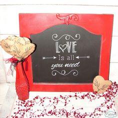 Muchmore Creative: Valentine Chalkboard