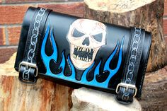 MOTORCYCLE TOOL BAG leather tool roll by BespokeLeatherCraft