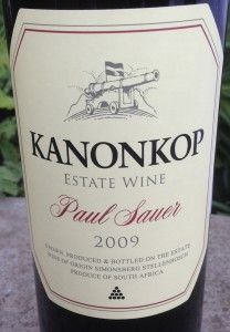 2009 Kanonkop Paul Sauer  My most beloved wine , so far ;)
