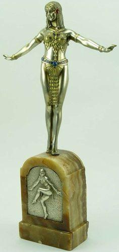 Demetre Chiparus - Danseuse Egyptienne - Bronze et Marbre - 1930