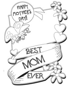 Mothers Day Coloring Sheets Printable