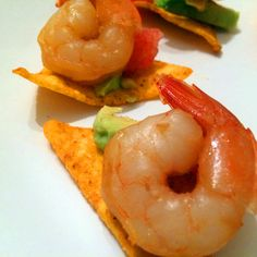 Yummy ideas for holidays- gourmet canapés Canapes, Original Recipe, Shrimp, Stuffed Peppers, Holidays, Meat, Vegetables, Recipes, Food