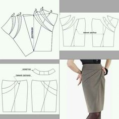 Slash the skirt sloper shown in the bottom right picture and join left and right sides together as shown in top left picture