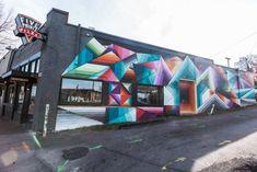 Google Fiber Mural | Nashville Guru Mural by Nathan Brown 1012 Woodland Street, Nashville, TN 37206 Nashville Murals, Experiential Marketing, Street Marketing, Brown Art, International Artist, Mural Art, Graffiti Art, Installation Art, Woodland
