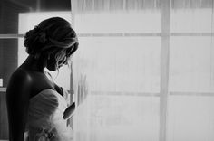gorgeous black and white bridal portrait | Images by Rich Lander Chard Photography