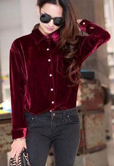 Velvet Shirt (Red)