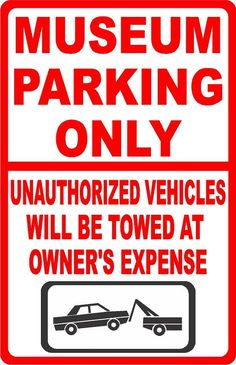 Aluminum Metal Visitors Must Park In Visitor Spaces Only Print Blue White Car Lot Street Business Office Large 12x18