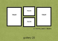 2- 11x14, 2- 18x24