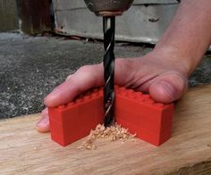 Lego drill guide