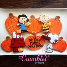 Snoopy & Friends ⚜ It's The Great Pumpkin, Charlie Brown! Thanksgiving Cookies, Charlie Brown Thanksgiving, Great Pumpkin Charlie Brown, It's The Great Pumpkin, Fall Cookies, Charlie Brown And Snoopy, Cut Out Cookies, Pumpkin Cookies, Cute Cookies