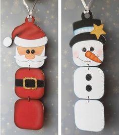 Santa y muñeco de nieve sencillos