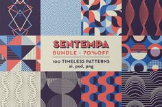 SENTEMPA BUNDLE 1: 100 Geo Patterns by kloroform on @creativemarket