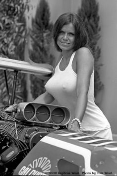 Barbara Roufs 70's Drag Strip Babe