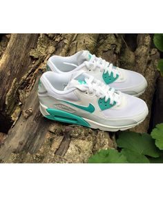 Nike Air Max 90 Essential Running Shoes White Emerald Green Cheap
