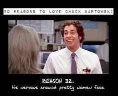 Chuck 4 Ever :) - 50 Reasons to Love Chuck Bartowski! (this is so brilliant)