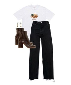 Outfit Ideas Inspo Distressed Denim Band T Shirt Boots Chunky Earrings Easy Every Day Casual Outfits Style Tips Stylist Styling OOTD Fashion Killa, Look Fashion, Korean Fashion, Fashion Outfits, Fashion Mode, Fall Outfits, Casual Outfits, Summer Outfits, Blue Outfits