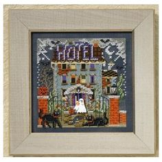 The Book and Crafts Review Corner: Linda Review Of Haunted Hotel Cross Stitch Kit From Mill Hill - Buttons & Beads Series