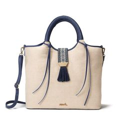 By Avon Isle Style Bag. The perfect summer tote that can be used as a purse or beach bag! Avon Clothing, Avon Bags, Avon Fashion, Avon Online, Shoulder Strap, Fashion Accessories, Shoe Bag, Leather, Avon Products