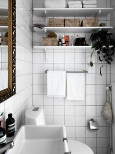 Interior, Bathroom Goals, Compact Living, Scandinavian Home, Bathroom Grout Color, Bathroom, Bathroom Inspo, Bathroom Grout, Small Rooms
