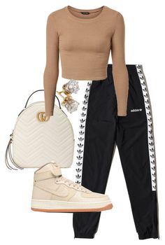"""Untitled #22628"" by florencia95 ❤ liked on Polyvore featuring Gucci and adidas Originals"