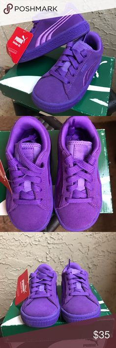 1985a31b788d NWT Electric Purple Kinder-Fit Suede Pumas Classic Puma sneakers in  Electric Purple