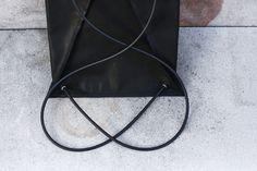 SANKAKU backpack in genuine leather  by Eleni Pashalidou