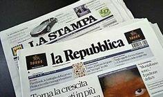 Editoria, Repubblica e La Stampa uniscono le loro forze. Fca lascia Corriere della Sera. #lalinearossa