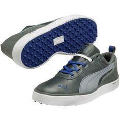 33b49961c6e Puma Monolite Spikeless Golf Shoes Grey White Blue Discount Shoes