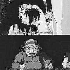İt's gėttıng dårk tøø dårk tø sėė #studioghibli #ghibli #howlsmovingcastle #blackandwhite #quotes #grey #colors #deep #beauty #emo #emocore #metalcore #hardcore #emogirl #emoboy #punkrock #poppunk #indierock #indie #metal #gunsnroses #knockingonheavensdoor #darkness #anime #down #hayaomiyazaki by r.i.p_ms.may