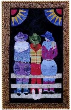 Wranglers by June Jaeger as seen at Prairie Girls Quilt Shop