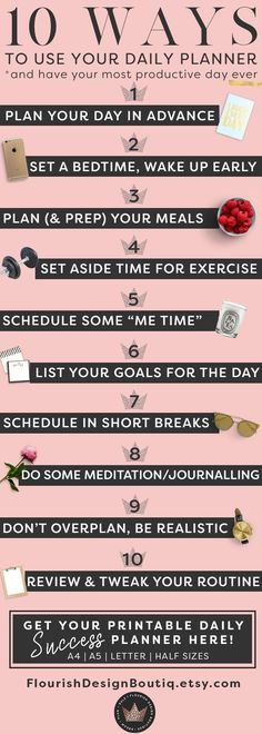 10 ways to use your daily planner to up level your life and business and achieve your goals