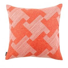 Oxford Rose by Blissliving. Checkmate. This linen pillow pops with ...