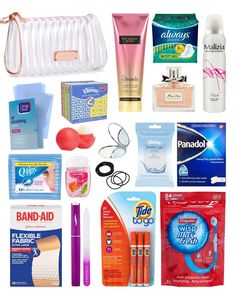 School emergency kit for girls