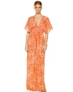 REALLY WANT THIS!! MICHAEL Michael Kors  Smocked Maxi Dress.