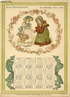 Kate Greenaway's Calendar for 1884
