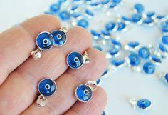 Evil Eye Charms 3 Pcs Navy Blue evil eye by PrettyTurkishThings