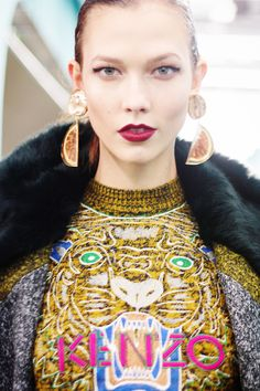 Katlie Kloss at Kenzo FW12 pic by me