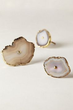 At $18 each, these are not cheap, but I simply love the natural elegance of these swirled Geode knobs - eclectic - knobs - Anthropologie