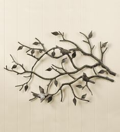 """Determine additional info on """"metal tree wall art decor"""". Look into our site. Metal Tree Wall Art, Metal Art, Iron Wall Art, Painting Shower, Bird On Branch, Branch Art, Tropical Decor, Unique Home Decor, Metal Walls"""