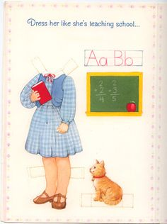 Becky Sue Paper doll card 1981 #2