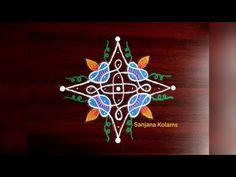 Kolam Rangoli, Rangoli Designs, Dots, Make It Yourself, Simple, Easy, Youtube, Beautiful, Stitches