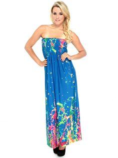 Ink Splash Maxi Dress