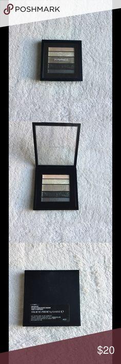 MAC eyeshadow pallet MAC greenluxe veluxe pearlfusion eyeshadow pallet. Been used once, still in great condition MAC Cosmetics Makeup Eyeshadow