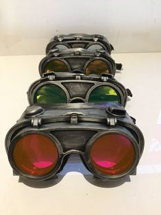 Steampunk Goggles With Flip Up Lenses With Choice Of Colours, Post Apocalyptic Survival, Mad Max, Burning Man, Wasteland Style by Steampunkbyben on Etsy