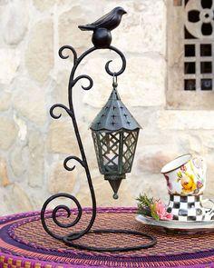 MacKenzie-Childs Bird on Ball Table Lantern