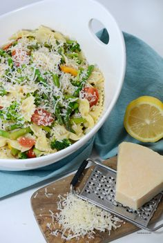 Salad Recipes | This Spring Veggie Pasta Salad is a delicious, easy dinner recipe. Perfect for a side dish or a main dish.  Healthy and colorful, it will become a favorite.