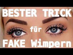 Richtig Wimpern ankleben! Der WELT BESTE Trick! - YouTube