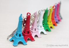 Multicolor Alloy Eiffel Tower Keychain Favors For Wedding Gift Eiffel Tower Keychains Advertising Eiffel Tower Key Ring Gift Keychain Wallets Keychain With Picture From Ouyang2011ok, $0.53| Dhgate.Com